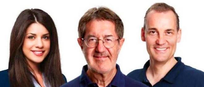 Au milieu,Lucien Terragnolo, candidat RN.