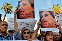La condamnation de Hajar Raissouni avait donné lieu à des manifestations réclamant sa libération. Ici à Rabat le 2 octobre.