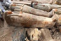 Les sarcophages ont ete retrouves << exactement comme les anciens Egyptiens les avaient laisses >>.