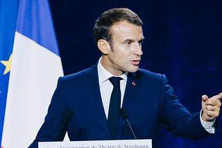 <p>EmmanuelMacron a demandé aux Français d'être vigilants face à «l'hydre islamiste».</p>