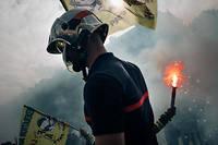 Nicolas B., 28 ans, un pompier de l'Essonne, était venu mardi 15 octobre pour la première fois de sa vie manifester. (Image d'illustration)