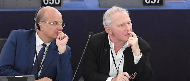 Bernard Guetta, à droite, au Parlement européen le 2 juillet.
