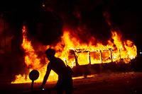 Les manifestants protestaient contre une nouvelle hausse des prix des tickets de métro à Santiago.