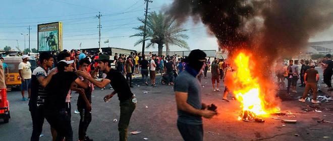 Manifestation a Bagdad le 7 octobre 2019.