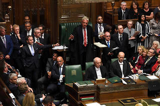 «La motion ne sera pas débattue», a annoncé John Bercow, estimant que ce serait «répétitif» de faire un second vote sur le même sujet.