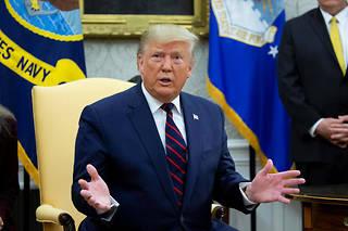 «J'ai toujours dit,si on y va, gardons le pétrole», a déclaré lundi Donald Trump depuis la Maison-Blanche au sujet de l'intervention américaine en Syrie.