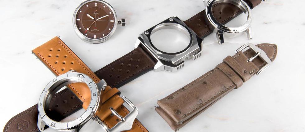 <p>Le jeune horloger français confie à ses clients le pouvoir de personnalisation en habillant cadran ou bracelet selon leurs envies.</p> <p></p> <p></p>