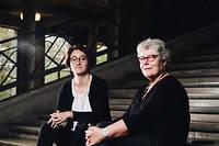 Caroline Rehbi et Veronique Seihier, copresidentes du Planning familial, a Paris, le 22 octobre.