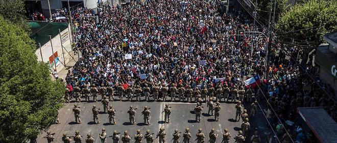 De nombreuses manifestations sont organisées au Chili.