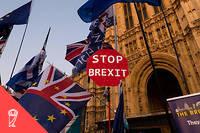 Les Londoniens ont manifesté le 22 octobre devant la Chambre des communes.