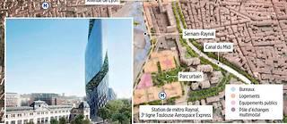 Le premier volet de Toulouse Euro-Sud-Ouest (Teso) prévoit une densification urbaine entre le canal du Midi et les voies de chemin de fer. En 2023, la tour d'Occitanie dominera le quartier de la gare de Matabiau.