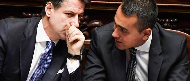 Le ministre des Affaires etrangeres Luigi Di Maio, du Mouvement 5 etoiles, et le Premier ministre Giuseppe Conte.