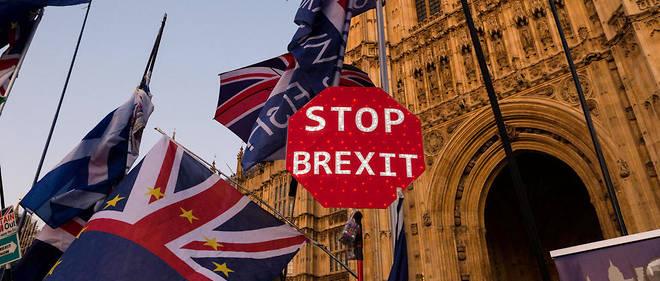 Manifestation contre le Brexit devant Westminster, à Londres, le 22 octobre 2019.