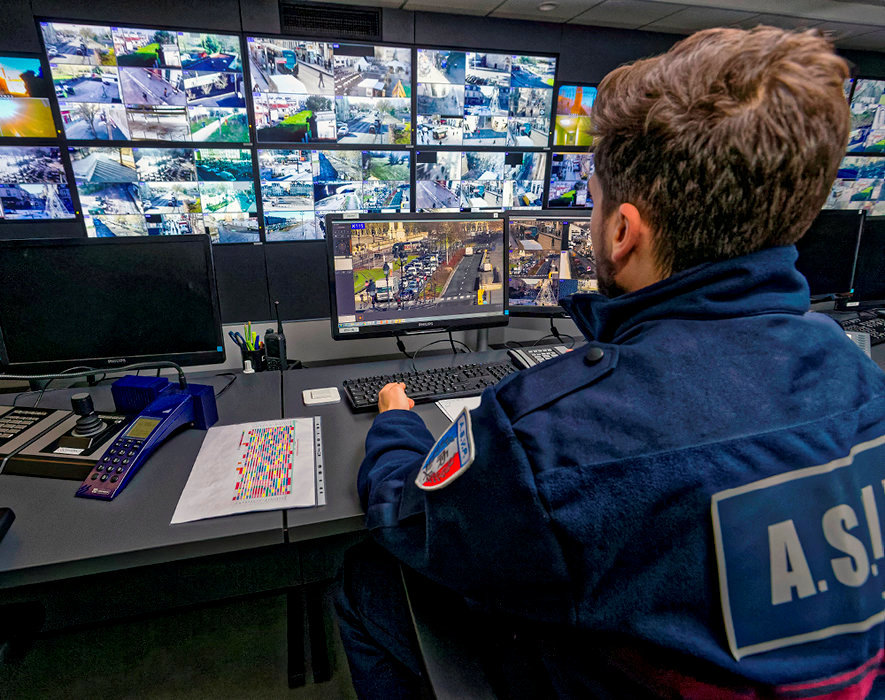 Surveillance. Le centre de vidéoprotection urbaine deBordeaux recueille lesimages de 107caméras.
