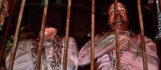 Bain de (faux ?) sang, séjour en cage... Rien n'est épargné aux participants de cette maison hantée de l'extrême.