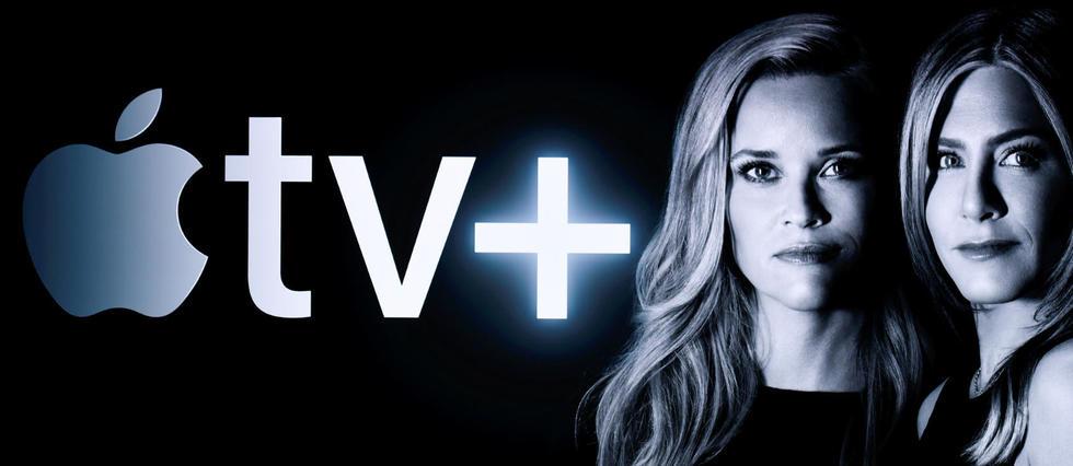 <p>Reese Witherspoon et Jennifer Aniston lors d'une présentation d'Apple TV+, le 25 mars 2019 à Cupertino, en Californie.</p>