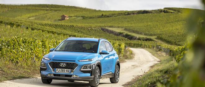 Hyundai Kona Hybrid & Electric: représentation multicartes