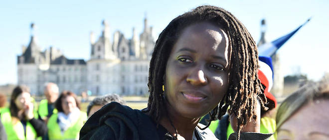 Pricillia Ludosky lors d'un pique-nique des Gilets jaunes devant le château de Chambord le 23 février 2019.