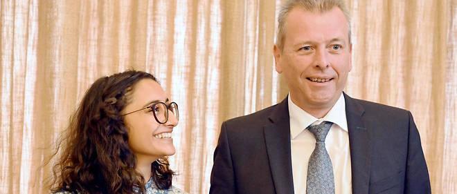 Benigna Munsi et le maire de Nuremberg Ulrich Maly.