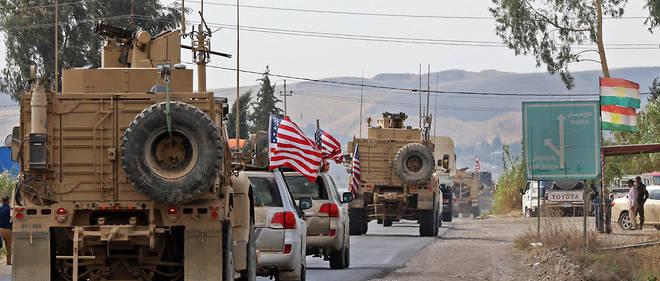 Un convoi militaire américain le 21 octobre dernier dans la région kurde du nord de l'Irak.