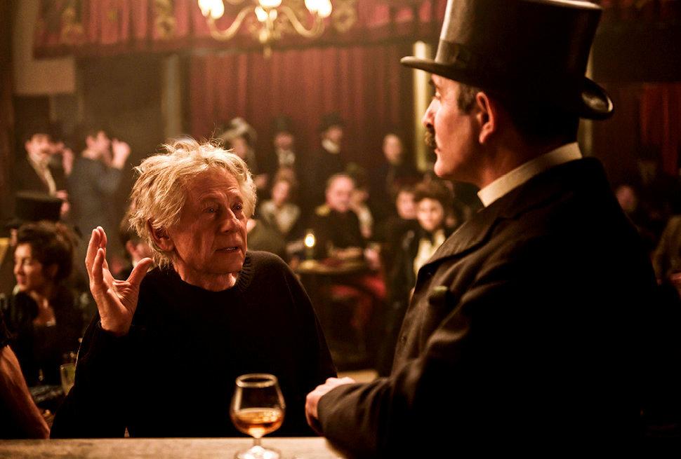 Tête d'affiche. JeanDujardin, qui incarne le lieutenant- colonel Marie-Georges Picquart, face au réalisateur Roman Polanski.