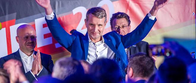 Björn Höcke, tête de liste de l'AfD, est arrivé deuxième du scrutin en Thuringe.
