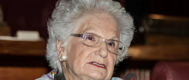 Liliana Segre, sénatrice italienne et survivante des camps de concentration.