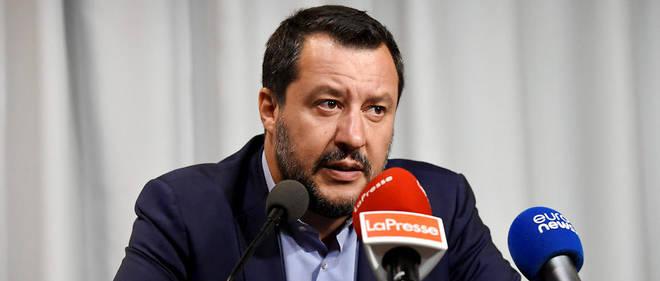 Matteo Salvini lors d'une conférence de presse en juillet 2018 en Finlande.
