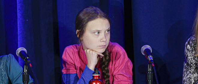 La militante Greta Thunberg aux Nations unies le 23 septembre 2019.