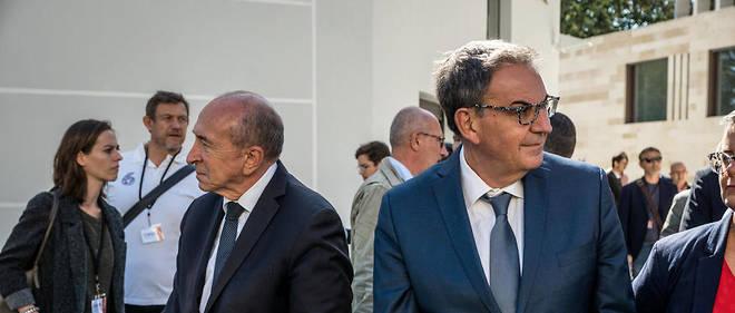Gérard Collomb et David Kimelfeld à Lyon le 19 septembre 2019.