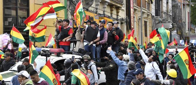 Evo Morales a demissionne dimanche apres trois semaines d'actions de protestation contre sa reelection.