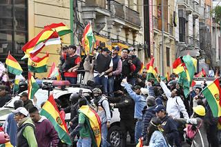 Evo Morales a démissionné dimanche après trois semainesd'actions de protestation contre sa réélection.