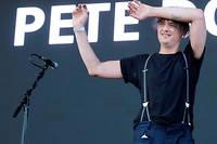 Pete Doherty lors d'un festival en Angleterre en août 2017.