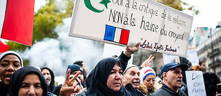 La manifestation contre l'islamophobie du 10 novembre a attiré 13 500 personnes selon les chiffres officiels.