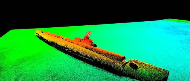 Le bâtiment, qui pouvait se targuer de figurer parmi les 20 meilleurs sous-marins américains de l'époque, avait été frappé par une bombe de 220 kilos.