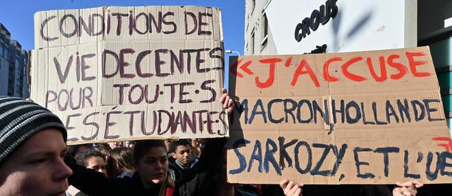L'immolation d'un étudiant et son message interpellant les pouvoirs publics sur la précarité ont été mardi au centre de rassemblements qui se sont soldés par des incidents à Lyon, Lille et Paris.