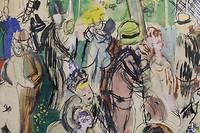 <p>Raoul Dufy (1877-1953), « Le moulin de la Galette », 1942, Aquarelle et plume, 28 x 46 cm. Au verso : « Naissance de Vénus et travaux des champs », dessin à la mine de plomb © Adagp, Paris, 2019</p> <p></p>