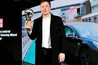 <p>Tesla a reçu le prestigieux Volant d'or du magazine « Bild » et a annoncé l'implantation à Berlin de son usine européenne</p> <p></p>