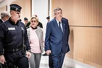 Arrivee des epoux Balkany et de Me Eric Dupond-Moretti lors du verdict pour fraude fiscale.