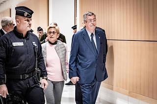 Arrivée des époux Balkany et de Me Éric Dupond-Moretti lors du verdict pour fraude fiscale.