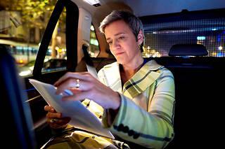 Margrethe Vestager, commissaire européenne à la Concurrence et au Numérique, a reçu «Le Point» le 12novembre à Bruxelles. ©Eric Herchaft