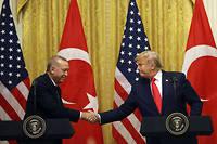 Erdogan a été «très déçu» par les déclarations de la France sur l'Otan, a déclaré Donald Trump depuis le Bureau ovale.