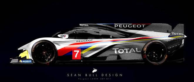 Il s'agit d'une vue d'artiste qui imagine ce que pourrait être cette hypercar Peugeot, de retour au Mans après trois victoiresen 1992, 1993 et 2009