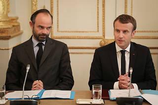 Édouard Philippe et Emmanuel Macron en octobre 2017.