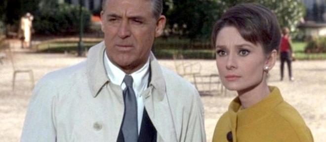 Cary Grant et Audrey Hepburn partagent l'affiche de << Charade >>.