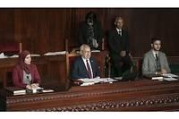 Désormais président de l'Assemblée des représentants du peuple, Rached Ghannouchi est le 2e personnage de l'État tunisien. Ici, lors de la 1re session de la dernière législature.