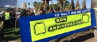 Les  derniers manifestants présents en centre-ville de Montpellier  dressent  un bilan positif du premier anniversaire d'un mouvement social  inédit.