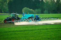 « Aujourd'hui, la base du gouvernement, c'est 10 mètres et 5 mètres : 10 mètres pour les cultures hautes et 5 mètres pour les cultures basses », a rappelé Didier Guillaume concernant l'épandage des pesticides.