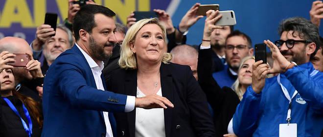 Matteo Salvini et Marine Le Pen ont fait meeting commun le 18 mai 2019 à Milan.