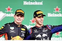 <p>Max Verstappen et Pierre Gasly font, pour Red Bull, un carton plein sur le podium du GP du Brésil, le dernier de la saison.</p> <p></p>
